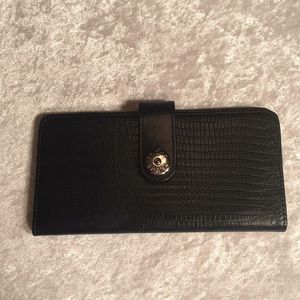Prune Black Leather Wallet